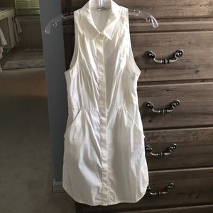 All saints white button down dress